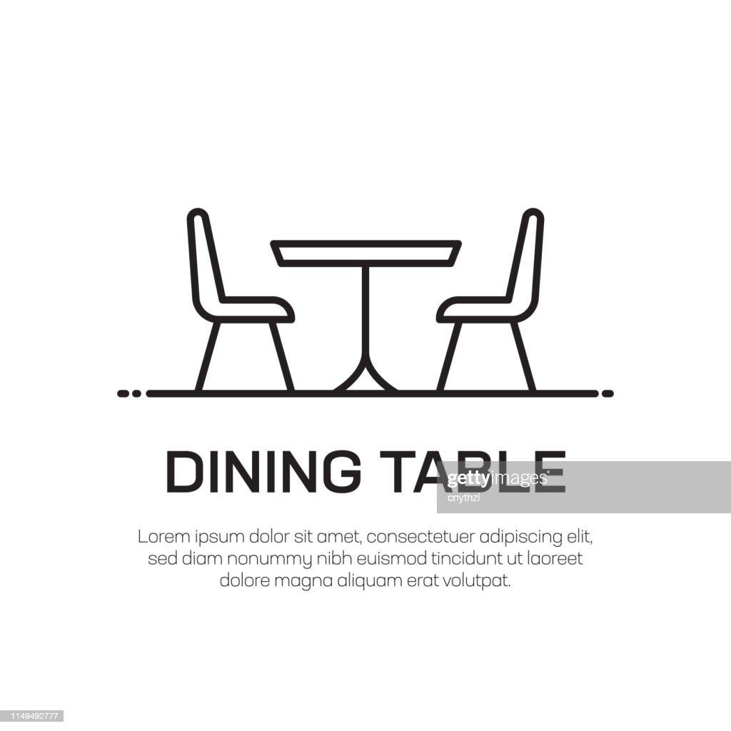 ダイニングテーブルベクトルラインアイコン-シンプルな細線アイコン、プレミアム品質のデザイン要素 : ストックイラストレーション