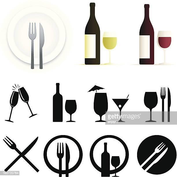 Abendessen/restaurant Symbole