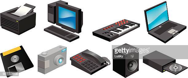 dinky computer icons - desk toy stock illustrations, clip art, cartoons, & icons