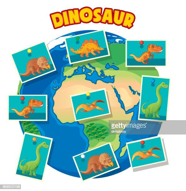 Dinosaur And Earth