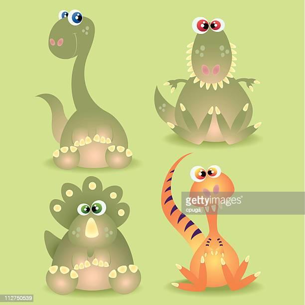 dinosaur babies - theropod stock illustrations