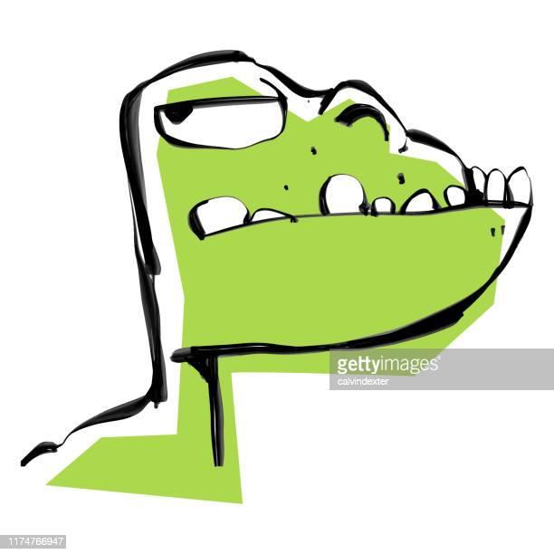 ilustraciones, imágenes clip art, dibujos animados e iconos de stock de dinosaurio lindo dibujo de dibujos animados - jurásico