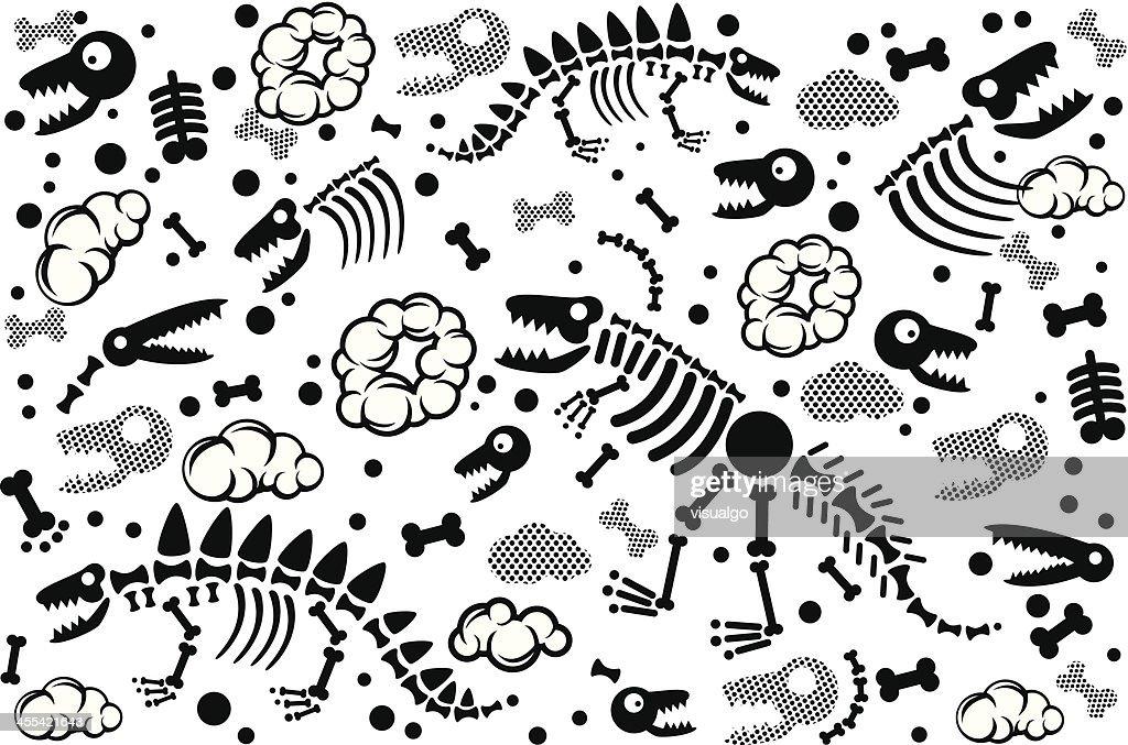 dinosaur fossil texture : stock illustration