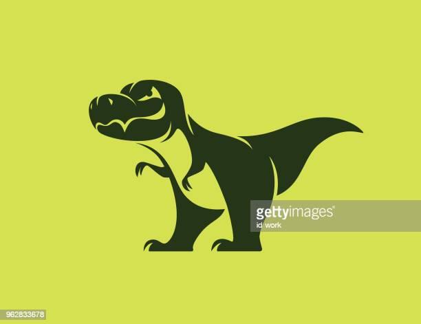dinosaurier-symbol - t rex stock-grafiken, -clipart, -cartoons und -symbole