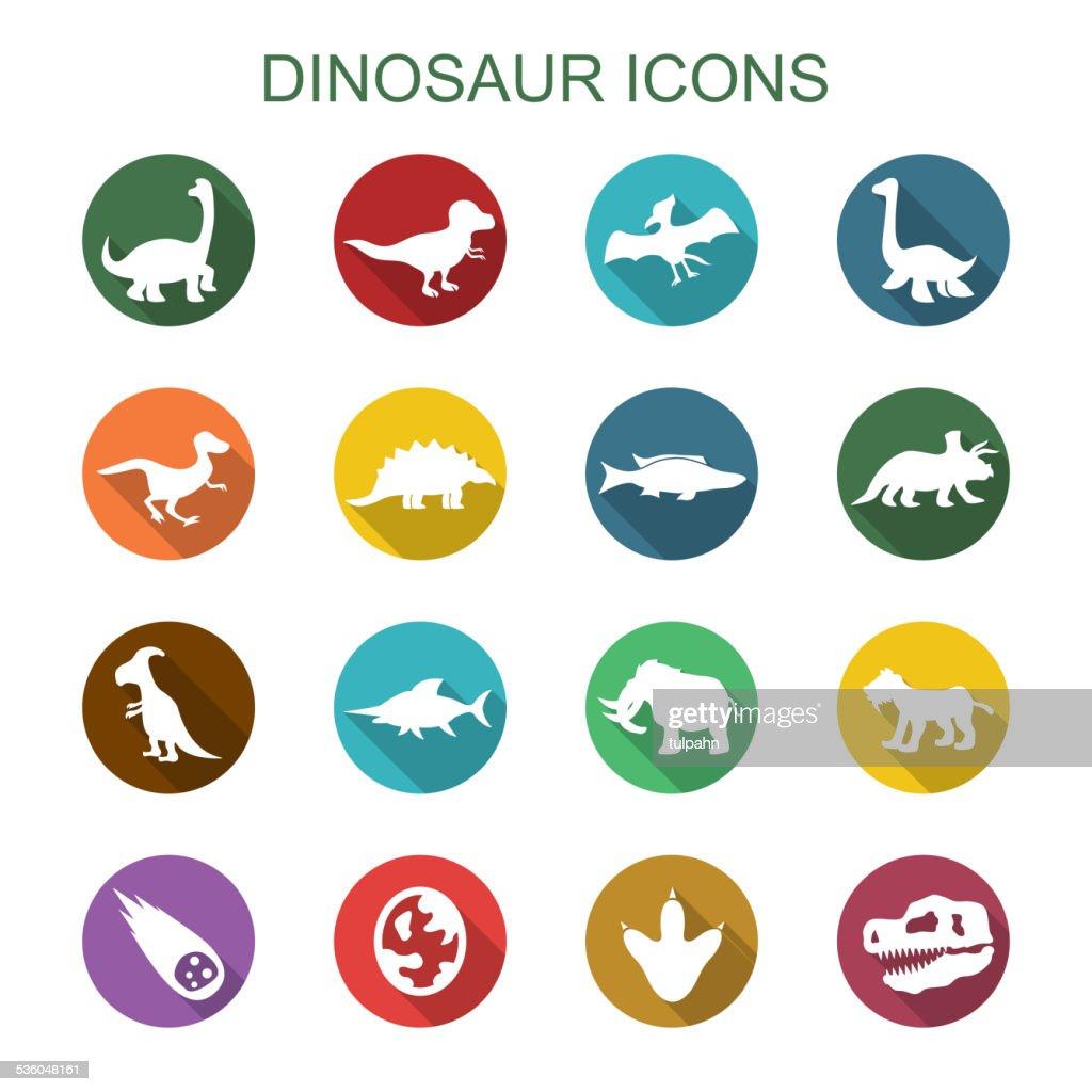 dinosaur long shadow icons