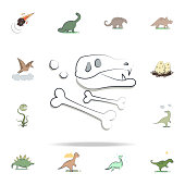 dinosaur petrifaction cartoon icon. Prehistoric icons universal set for web and mobile
