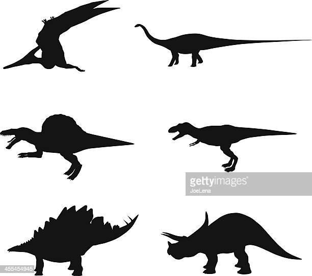 Dinosaurier-Sillhouettes