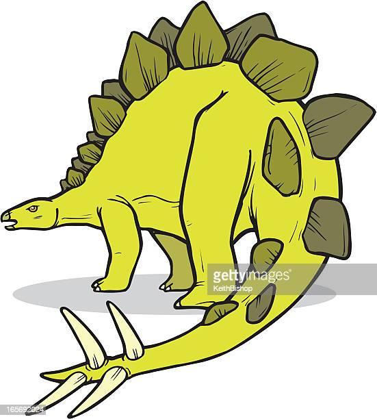 dinosaur - stegosaurus - thyreophora stock illustrations, clip art, cartoons, & icons