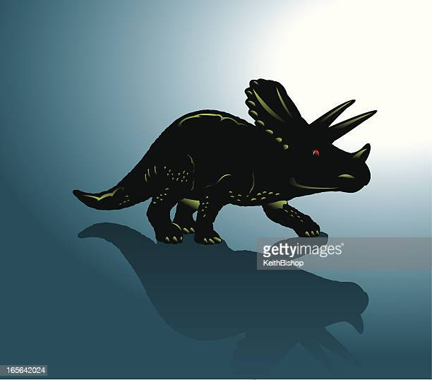 dinosaurier-triceratops - geologic time scale stock-grafiken, -clipart, -cartoons und -symbole