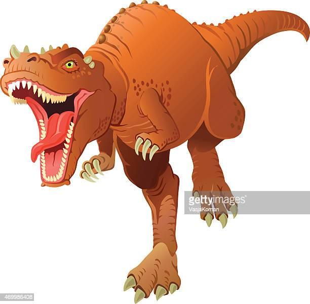 Dinosaur Tyrannosaurus Rex Charging