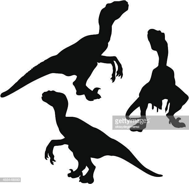 dinosaur - velociraptor stock illustrations
