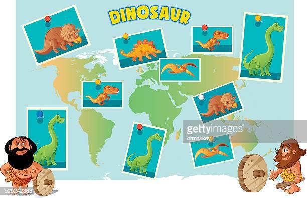 dinosaur world - hadrosaurid stock illustrations, clip art, cartoons, & icons