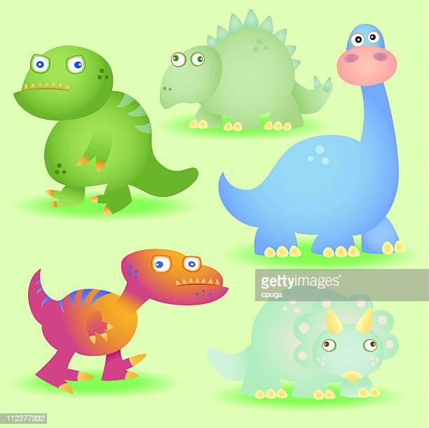 dinosaurs! - velociraptor stock illustrations