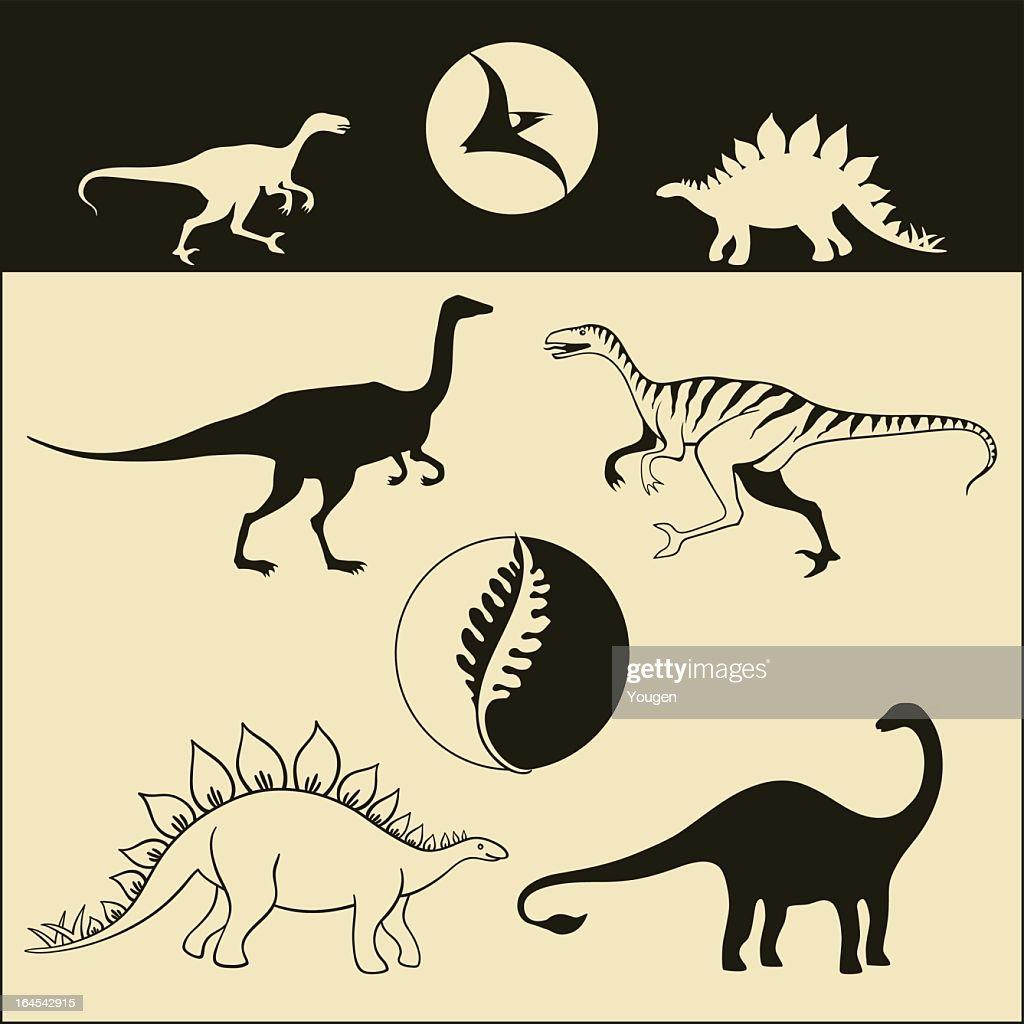 Dinosaurs (vector)