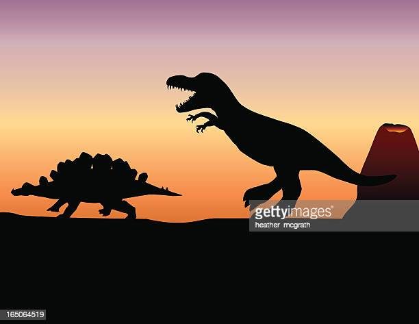 dinosaurs - jurassic stock illustrations, clip art, cartoons, & icons