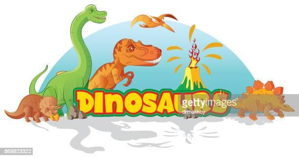 ilustraciones, imágenes clip art, dibujos animados e iconos de stock de los dinosaurios - triásico