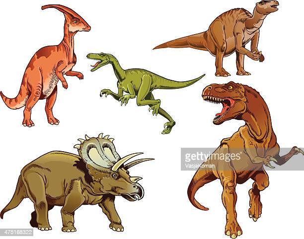 Dinosaurus Set - color images