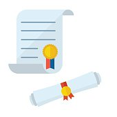 Diploma Blank Certificate Vector Icons