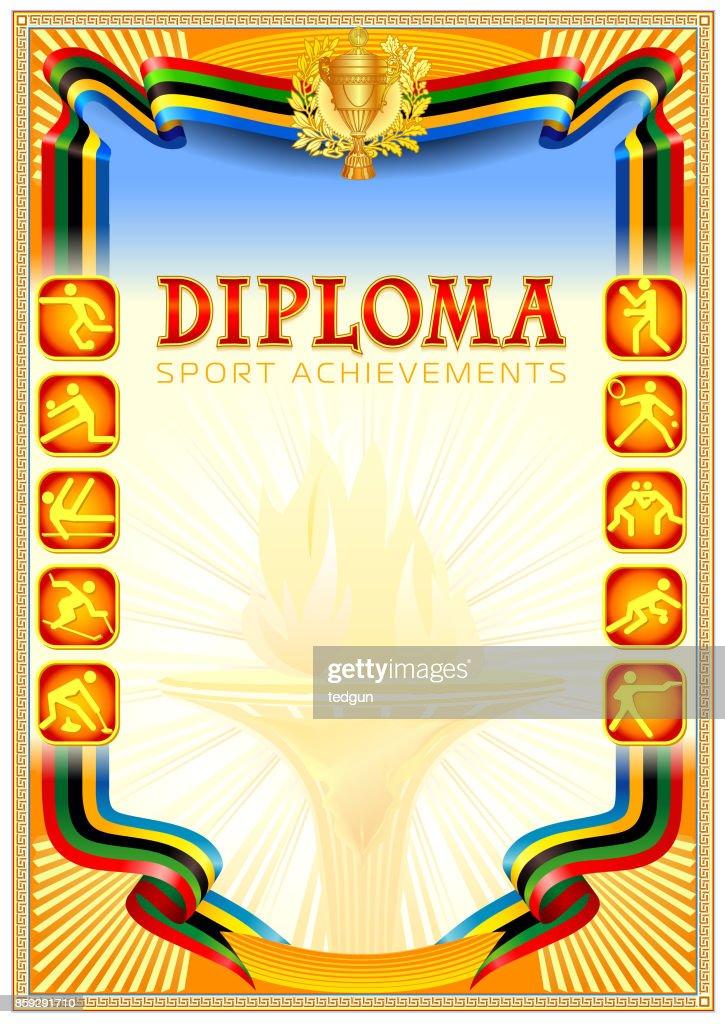 Diploma blank template