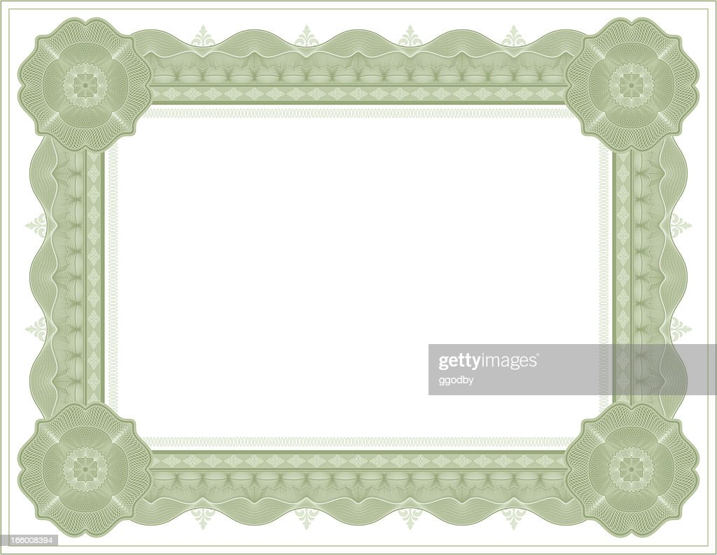 Diploma Certificate Frame Template Vector Art | Getty Images