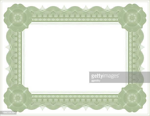 Diploma certificate frame template