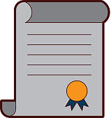 diploma graduation isolated icon