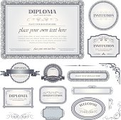 Diploma template with additional design elements
