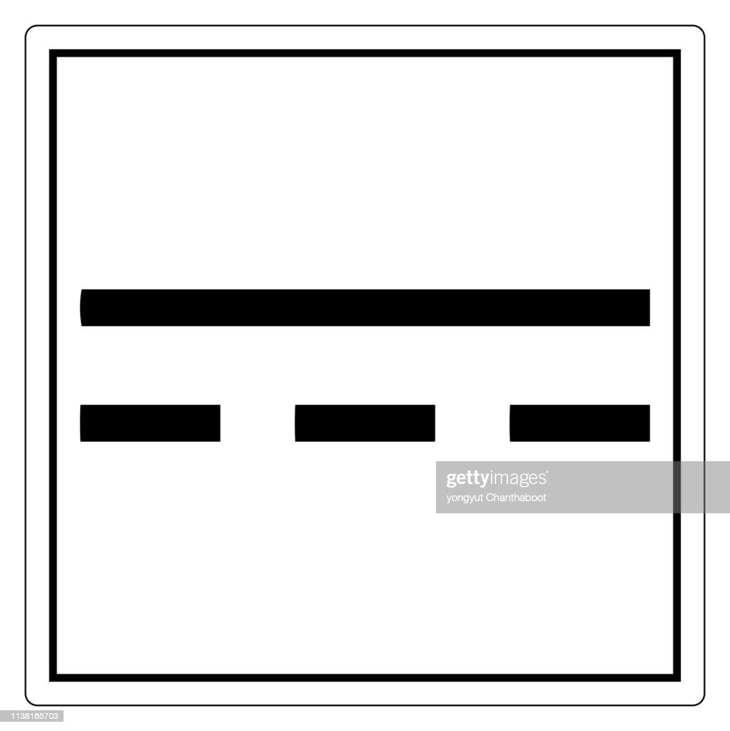 Direct Current DC Symbol Sign, Vector Illustration, Isolate On White Background Label. EPS10