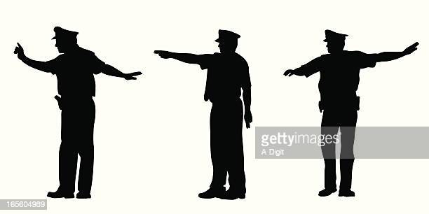 Directing Traffic Vector Silhouette