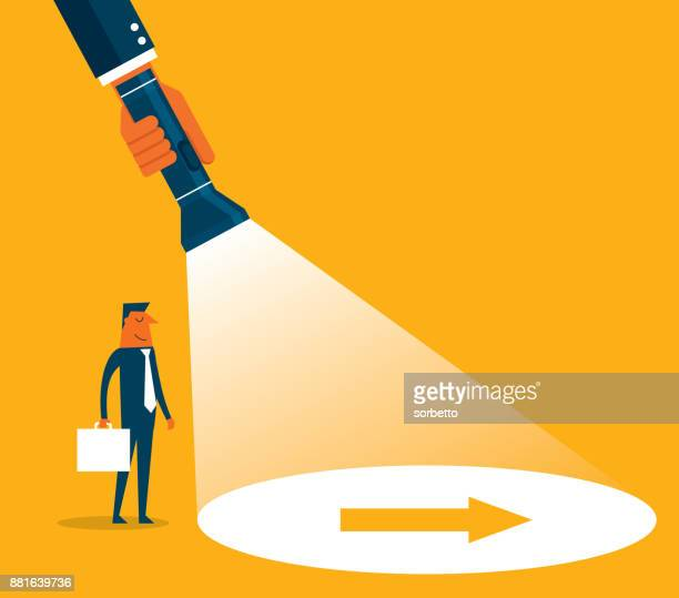 direction - businessman - searching stock illustrations