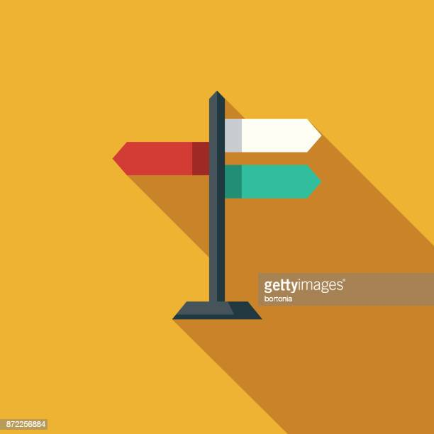 direction flat design business icon with side shadow - directional sign stock illustrations