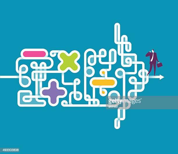 richtung - unordentlich stock-grafiken, -clipart, -cartoons und -symbole