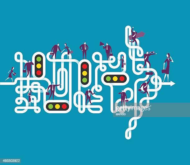 richtung - chaos stock-grafiken, -clipart, -cartoons und -symbole