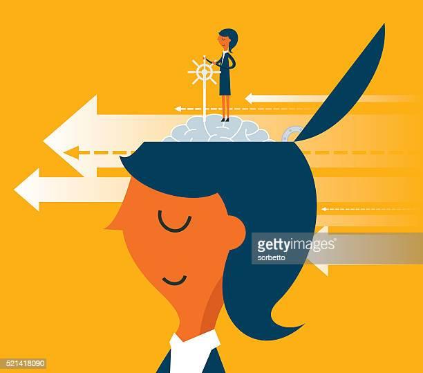 ilustraciones, imágenes clip art, dibujos animados e iconos de stock de dirección de - determinación