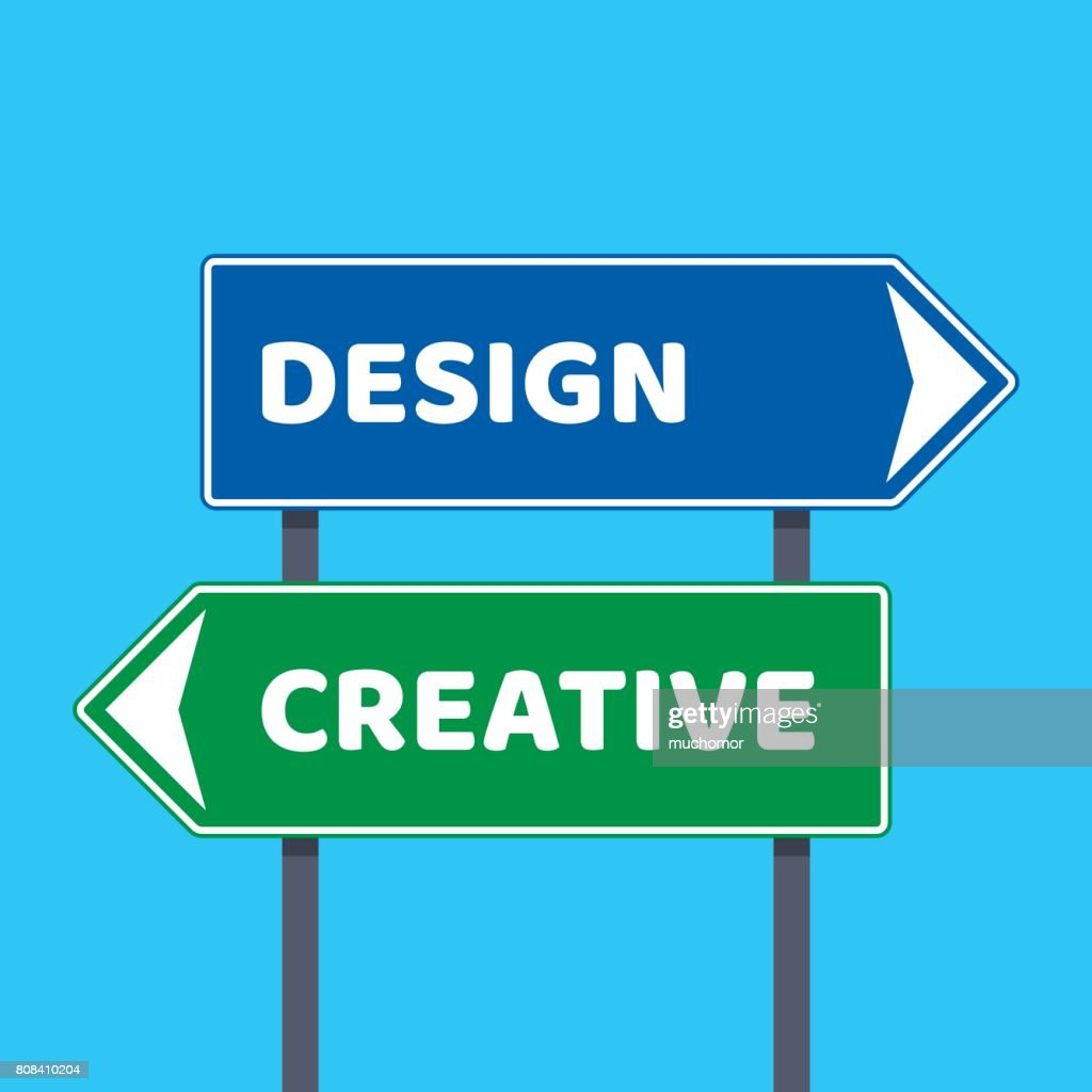 Directional road signs with design and creative