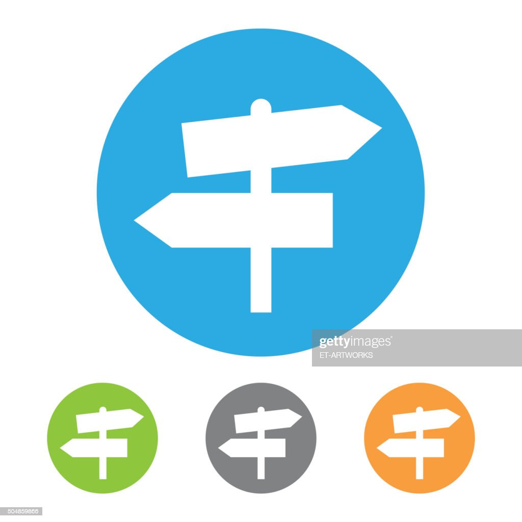 Directional sign icon. Vector
