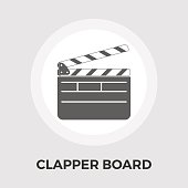 Director clapperboard flat icon