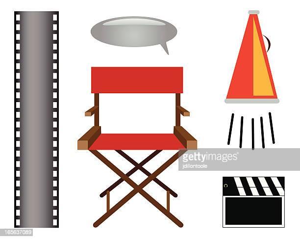 director elements vector set - film director stock illustrations