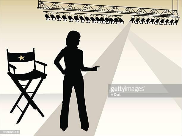 director vector silhouette - director stock illustrations