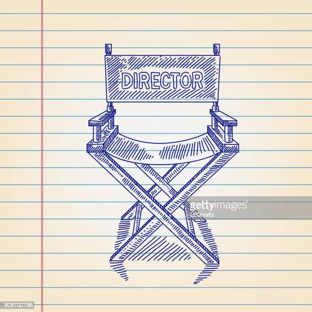 Dessin de la chaise du directeur sur papier revêtu