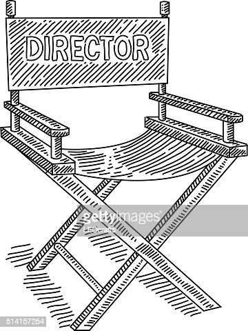 directors chair drawing vector art getty images