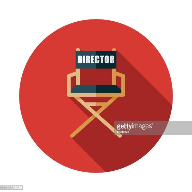 director's chair movie icon - director stock illustrations