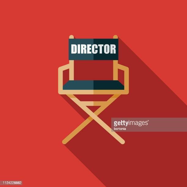 regiestuhl movie symbol - filmregisseur stock-grafiken, -clipart, -cartoons und -symbole