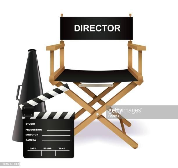 regisseure stuhl - film director stock-grafiken, -clipart, -cartoons und -symbole