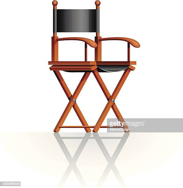 director's chair - producer stock illustrations, clip art, cartoons, & icons