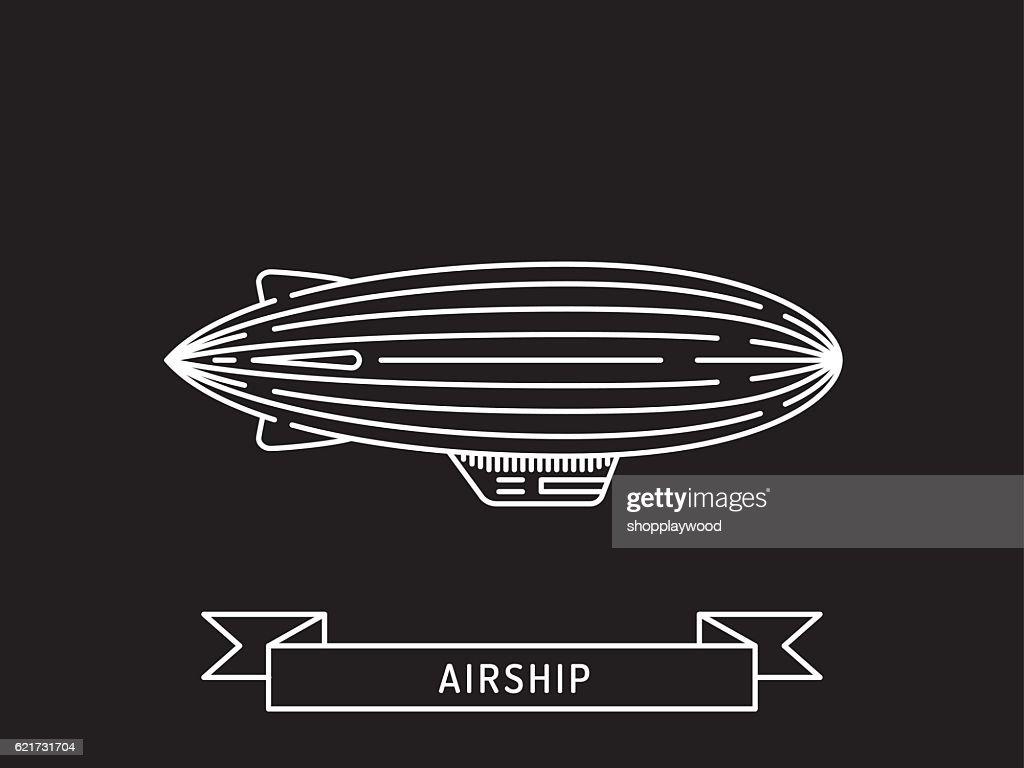 Dirigible and hot air balloons airship