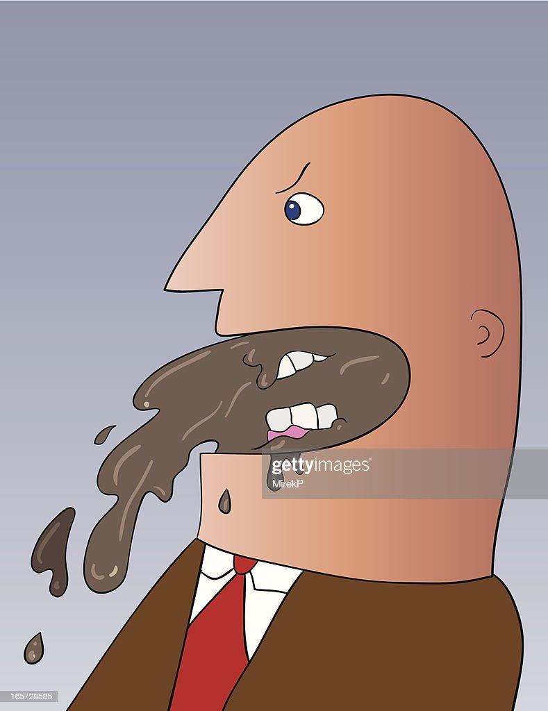 Dirt Talking Man : Stock Illustration