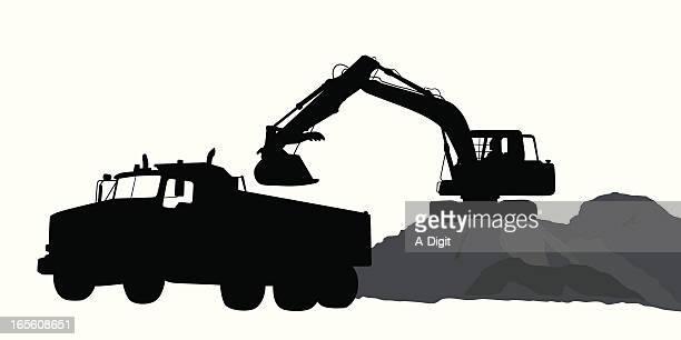 Dirt Truck Vector Silhouette