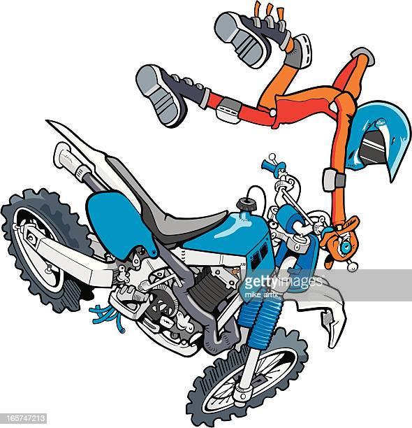 ilustraciones, imágenes clip art, dibujos animados e iconos de stock de dirtbikeblue - motocross
