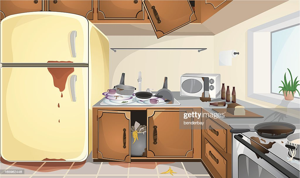 Dirty Kitchen Vector Art | Getty Images